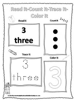 263 Numbers Worksheets Download. Preschool-Kindergarten Math.  ZIP file.