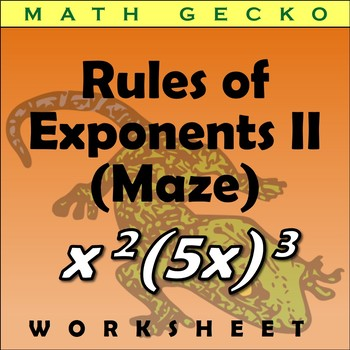 #263 - Rules of Exponents II - Maze (Easter Bunny)