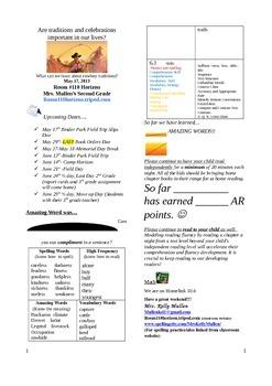 2.6.4 Cowboys, Reading Street 2nd Grade Newsletter Unit 6 Week 4