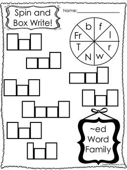 264 Word Families Worksheets Download. Preschool-1st Grade Phonics.  ZIP file.
