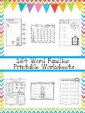 264 Word Families Worksheets Download. Preschool-1st Grade