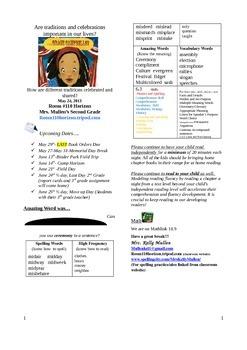 2.6.5 Grace For President, Reading Street 2nd Grade Newsletter Unit 6 Week 5