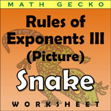#265 - Rules of Exponents III - Picture (Snake)