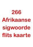 266 Afrikaanse sigwoorde flits kaarte