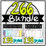 Borders Frames Backgrounds Lots Huge Bundle 226 #springbackin