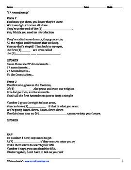 27 Amendments Lyrics