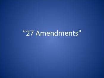 27 Amendments slide show