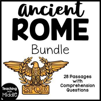 27 Ancient Rome Reading Comprehension Articles Bundle