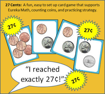 27 Cents: A Card Game to Practice Counting Coins