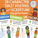 28 Character Trait Posters With Bible Verses- Watercolor K