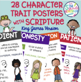 28 Character Trait Posters With Scripture Bible Verses- Ki
