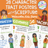 28 Character Trait Posters With Scripture Bible Verses Wat