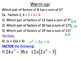 27) Factoring Quadratic Trinomials Using XBOX method (complete 2+ day lesson)