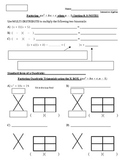 27) Factoring Quadratic Trinomials Using the XBOX Method Guided Notes