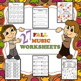 27 Fall Music Worksheets