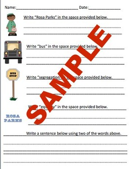 Primary Writing Practice: 27 Famous People in History Worksheets