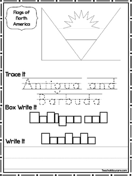 27 Flags of North America Worksheets Geography Curriculum.