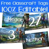 27 Free Classcraft Student Tags!