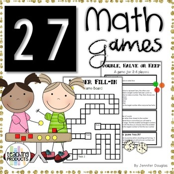 27 Fun and Engaging Math Games with Dice for Grades 1-6