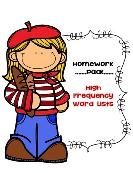 27 High Frequency & Fluency Word Lists