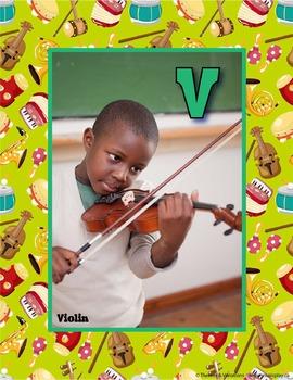 27 Instrument Alphabet Posters