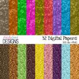 Digital Paper - Magical Glitter {27 Papers}