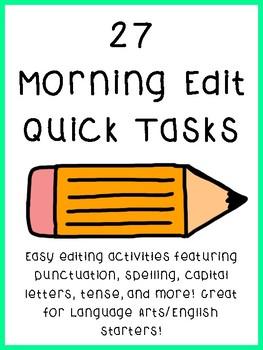 27 Morning/Daily ELA Editing Activities