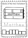 27 New Testament Color, Trace, and Write Worksheets. Preschool-2nd Grade Bible.