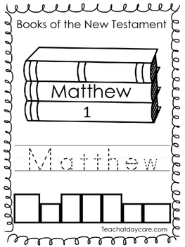 27 New Testament Color, Trace, and Write Worksheets. Presc