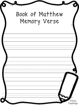 27 New Testament Memory Verse Notebooking Pages.