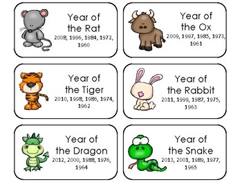 picture relating to Chinese Zodiac Printable called 27 Printable Chinese Zodiac Flashcards inside of a PDF record.