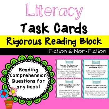 27 Reading Task Cards: Reading Center Activities: Fiction & Non-Fiction