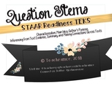 27 STAAR Question Stem Task Cards - Readiness TEKS - {EDITABLE + Blank Template}