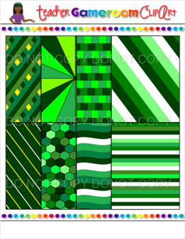 27 St. Patrick's Day Themed Digital Paper Clip Art