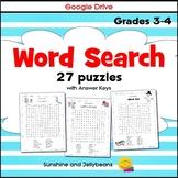 27 Word Search Puzzles - Habitats, Holidays, Seasons, etc. - Grades 3-4 - Google