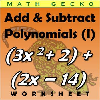 #270 - Adding and Subtracting Polynomials (I) Riddle