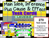 270 Main Idea, Cause and Effect, and Inference Task Cards (Guided Reading A - I)