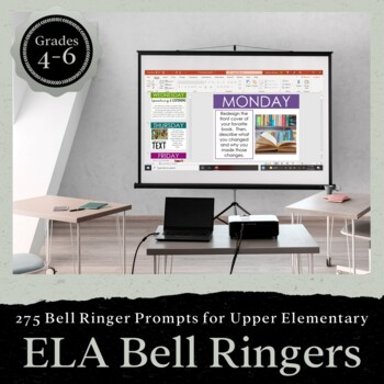 275 English Bell Ringers for Entire School Year: Upper Elementary Grades 4-6