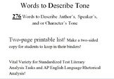 276 Words to Describe Tone