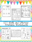 277 Math and Literacy Worksheets Download. Math and ELA. Z