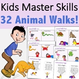 32 Animal Walk Cards for Sensory Regulation and Brain Brea