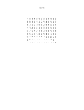 28 Answer Sea of Monsters Word Search with Key