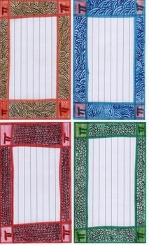 20 Colored Border Index Cards For Math 5 types - 4 different versions of each