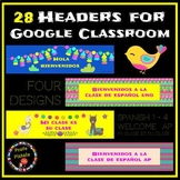 28 Colorful Llama Headers for Google Classroom  Distance Learning