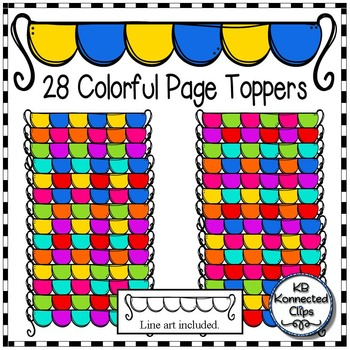 28 Colorful Page Toppers