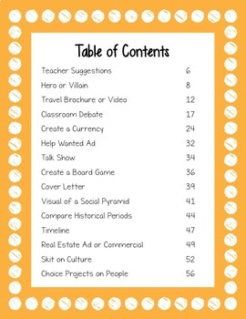 28 Student-Centered Social Studies Activities and Projects