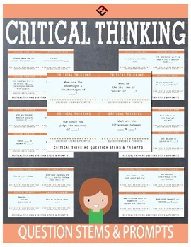28 Critical Thinking Question Stems & Response Cards