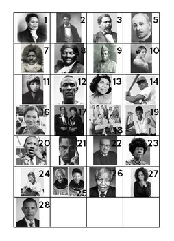 28 Days Daily Responses and Craft for Black History Month