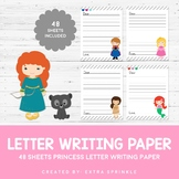 52 Disney Inspired Princess Letter Writing Paper Sheets