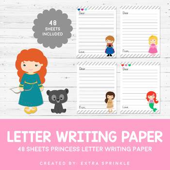 Letter Writing Paper Worksheets & Teaching Resources | TpT on